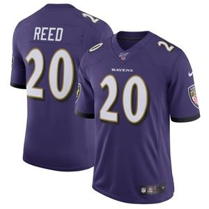 Men's Baltimore Ravens 20 Ed Reed 100 Jersey
